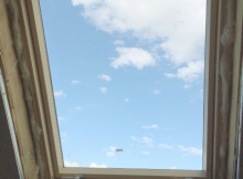 Мансардное дерево-алюминиевое окно