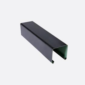 Карниз верхний 25х24, черный П5м