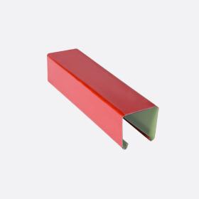 Карниз верхний 25х24, красный П,5м