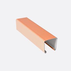 Карниз верхний 25х24, абрикосовый П,5м
