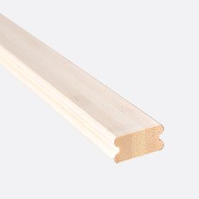 """Карниз нижний бамбук отбеленный 1"""", 180см"""