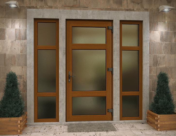 фото входных алюминиевых дверей