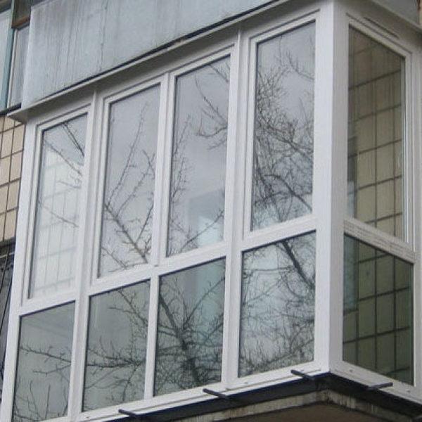 Балкон ПВХ француз с тонировкой