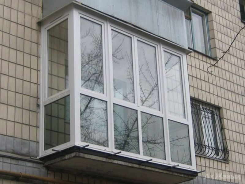 Балкон пластиковый француз ECP 3050x800x2500мм