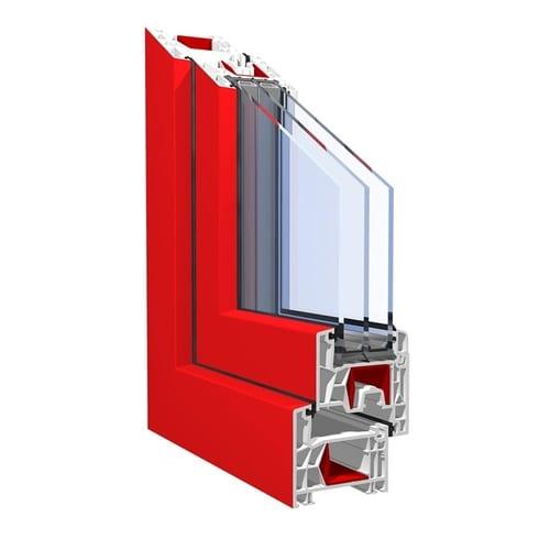 KBE 76 покрытие proCoverTec ламинация красная