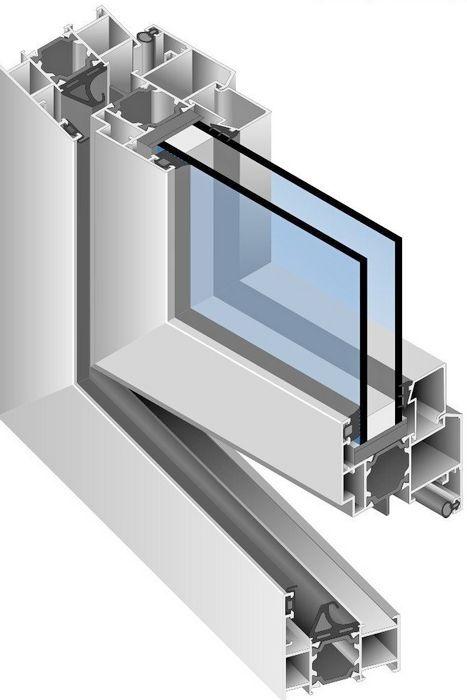 алюминиевое окно КПТ 74