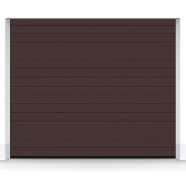 ворота S-гофр, коричневый